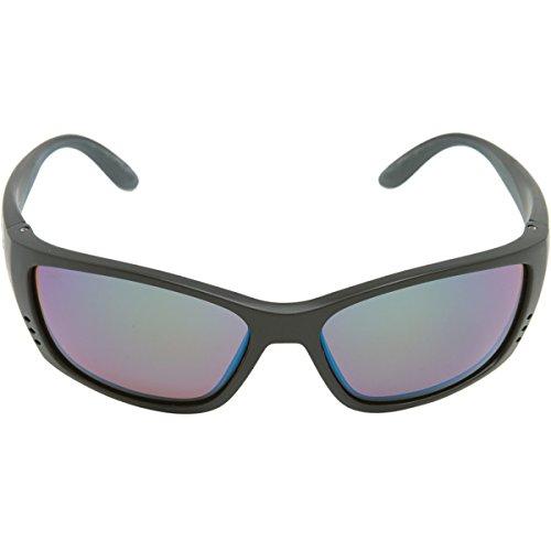 Costa Del Mar Fisch Sunglasses, Black, Green Mirror 580Glass Lens by Costa Del Mar (Image #1)