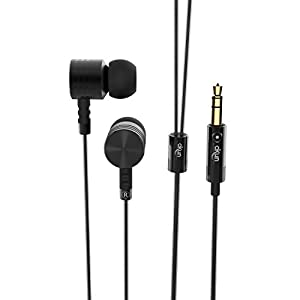 Headphones by Okun Drive In-Ear Wired Earphones Earbuds Noise Cancelling Magnetic Bass Stereo Headset for Samsung Galaxy S8/S8 Plus/Android Phones/ iPhone (Black)