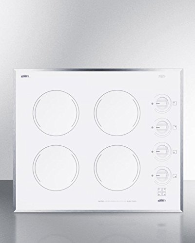 Summit CR424WH Electric Cooktop, White