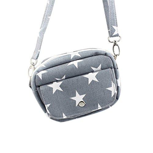 Malloom? Girls Bags Mini Small Messenger Cross Body Handbag Purse Grey