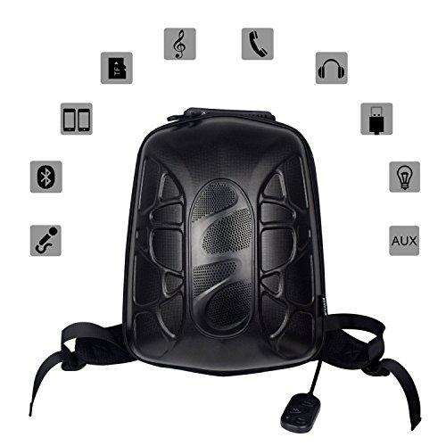WILDMAN Multi-Functional Waterproof Lightweight Enabled Wireless Bluetooth Speaker LED Light Backpack (Black) by Wildman (Image #2)