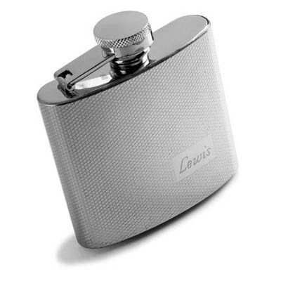 (Personalized 4 Oz Textured Stainless Steel - Liquor, Liquid Libations Pocket Sized Flask)