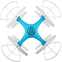 Owill M22 4CH 6-Axis Gyro Drone Mini 2.4Ghz RC Helicopter Aircraft Altitude Hold Quadcopter/ Without Camera (Blue)