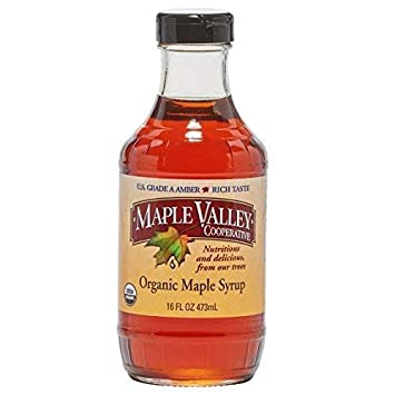 aa0ef58e1b82 Maple Valley 16 oz. Organic Maple Syrup - Grade A Amber Rich in Glass  Decanter