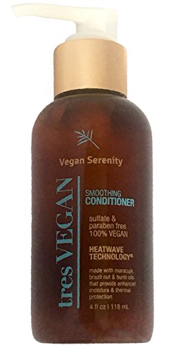 Serenity Natural - Vegan Serenity Smoothing Conditioner Moisture and Thermal Heat Protection, Paraben Free, Protects Natural Hair Color, 4oz Pump