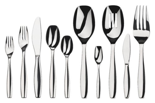 Gourmet Settings Cruise 45-Piece Stainless Steel Flatware Set, 8, 5-Piece place Settings and a 5-Piece hostess Set