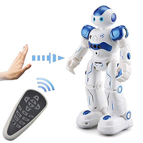 Aeeqee スマート ラジコンロボット ジェスチャーコントロールもできるロボット RCロボット おもちゃ 多機能ロボット 歌と踊りなど