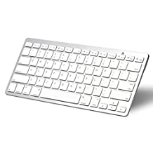 OMOTON Ultra-Slim Bluetooth Keyboard for Apple New iPad 9.7 2017, iPad Pro 10.5/ 9.7/ 12.9, Pad Air 2/Air, iPad Mini 4/3/2/1, iPad 4/ 3/ 2, all iPhones and other Bluetooth Enabled Devices, For Apple, White