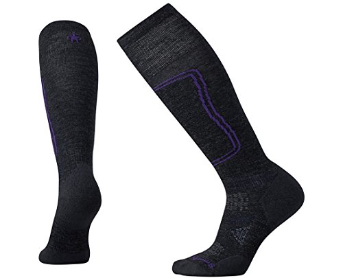 (Smartwool Women's PhD¿ Ski Light Charcoal Medium)