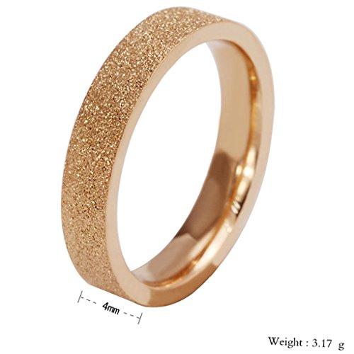 Sand blasted gold wedding band