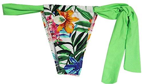 Uget Women's Women Brazilian Thong Bikini Bandage Cheeky Ruched T-back Bottoms Asia M Green