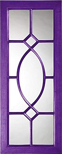 Wall Mirror Howard Elliott Dayton Rectangular Frame Royal Purple Resin N