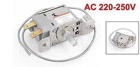Amazon.com: DealMux WPF22A 2 Terminal Frigorífico de refrigeração termostato w 30 centímetros Cord: Home & Kitchen