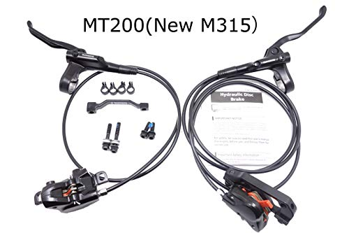 JGbike Shimano MT200 M315 MTB Hydraulic Disc Brake Set for Mountain Bike Bicycle MTB XC Trail, e-Bike, Fat Bike, The Best Upgrade kit for Mechanical Disc Brake