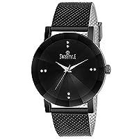 Swisstyle Black Dial Unsex Analog Watch-SS-LR076-BLK-BLK