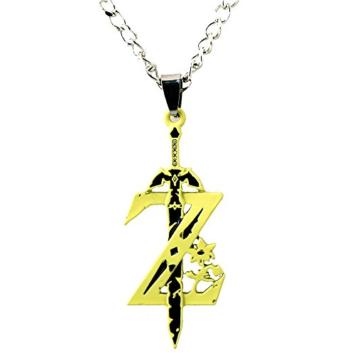 Pearl Legend of Zelda Z Logo Alloy Necklace