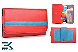 [RED & BLUE] Nokia N-Gage QD Case. Unisex Men's or Women's Wallet with Pouch Pouch