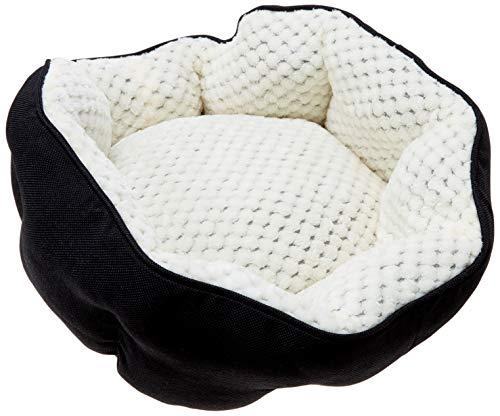 Cozy Cuddlerz C-04DS BLACK Linen Lounger Pet Bed, 18″ x 16″ x 8″, Black