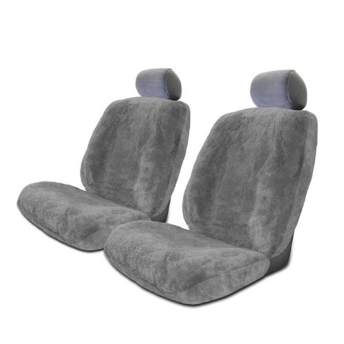 Set of 2 Genuine Sheepskin Stretchback Auto Seat Covers by Seat Covers Unlimited