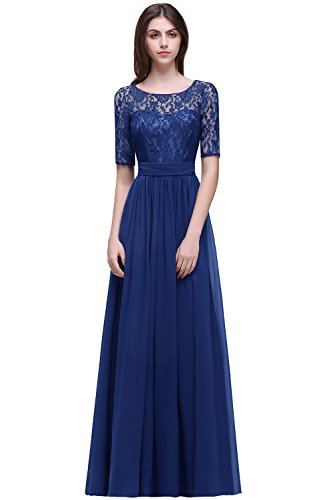 Women Lace Mother of the Bride Dresses Formal Evening Gown,Royal Blue,Size 16