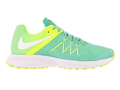 Nike Womens Zoom Winflo 3 Løpesko Hyper Turq / Hvitt-volt-hvitt