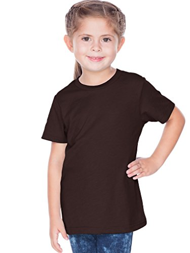 Kavio! Toddlers Crew Neck Short Sleeve Tee Jersey (Same TJC0440) Coffee 3T (Hip Toddler T-shirts)