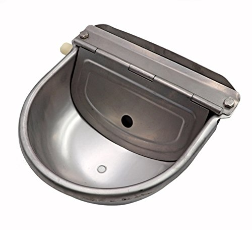 HomeYoo Water Bowl Scupper, 304 Stainless Steel Automatic Stock Waterer Horse Cattle Goat Sheep hog Pig Lamb Livestock Drinker Bowl (Silver) by HomeYoo (Image #4)