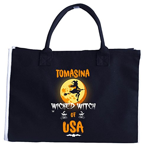 Tomasina Wicked Witch Of Usa. Halloween Gift - Tote (Tomasina Halloween)