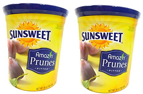 Sunsweet Amazin Prunes, Pitted Prunes, TWO 16 oz Containers of Plump, Sweet & Juicy Dried Plums - GREAT VALUE by Sunsweet