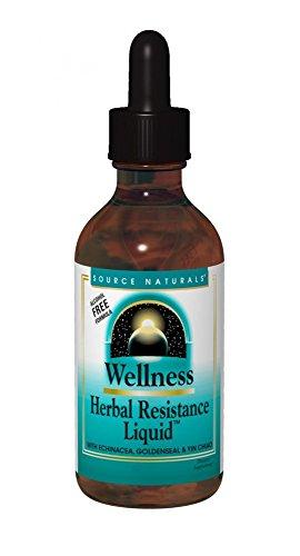 SOURCE NATURALS Wellness Herbal Resistance Liquid Vegetable Capsule, 120 Count