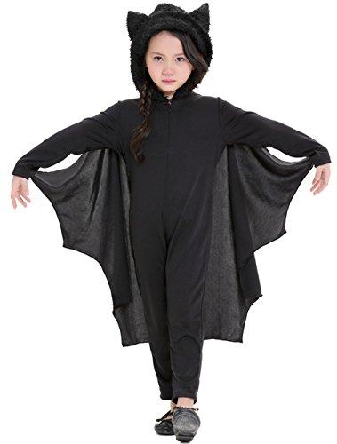 [Halloween Children's Cozy Bat Costume (S)] (Skeleton Wings Costumes)