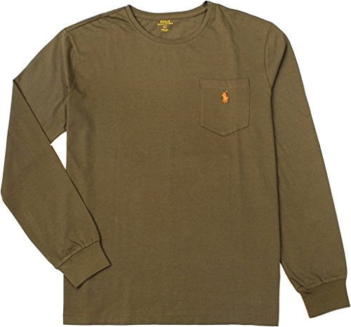 Price comparison product image Polo Ralph Lauren Men's Classic-Fit Long Sleeve Tee,  British Olive,  Small