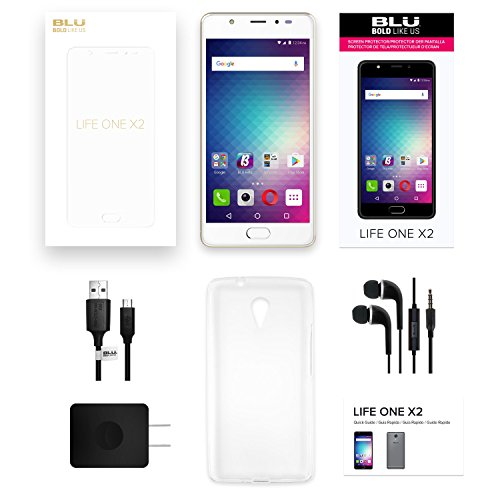 BLU LIFE ONE X2 - 4G LTE Unlocked Smartphone -64GB+4GB RAM -Rose Gold by BLU (Image #7)