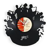 Art Vinyle LP Disque Horloge Murale Retro Metropole JAZZ BAND Pendule Travail Manuel