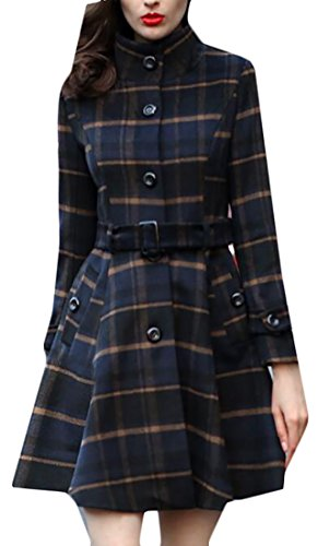 Plaid Belted Trench - 1