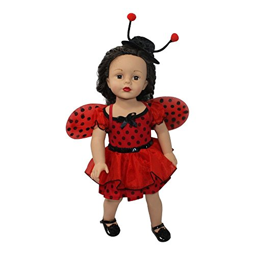 Pink Ladybug Costume (Arianna Fits American Girl 18 inch Doll - Adorable Ladybug 3pcs Halloween Doll Costume- Dress - Wings - Fedora - 18 inch Doll Clothes - Designed in USA Fit 18)