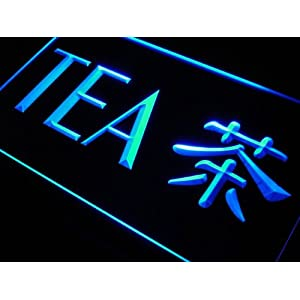 Multi Color j988-c Tea Chinese Word Neon LED Sign with Remote Control, 20 Colors, 19 Dynamic Modes, Speed & Brightness Adjustable, Demo Mode, Auto Save Function