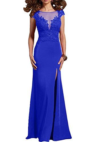 Ballkleider Lang Sexy Spitze Etuikleider Blau Royal Abendkleider mia Abschlussballkleider Damen Braut Festlichkleider La Formal qwxR0PHg
