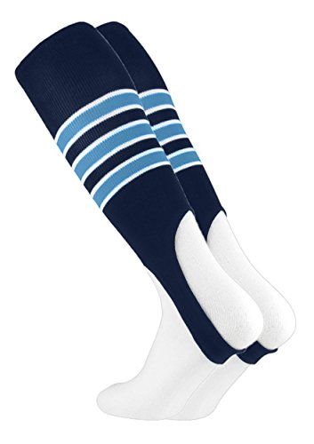 - MadSportsStuff Baseball Stirrups by TCK Pattern D (Navy/Columbia Blue/White, Large)
