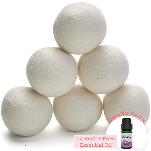 Mountclear Wool Balls-Lavender Scented Natural,Chemical Reusable Time and Money-Laundry