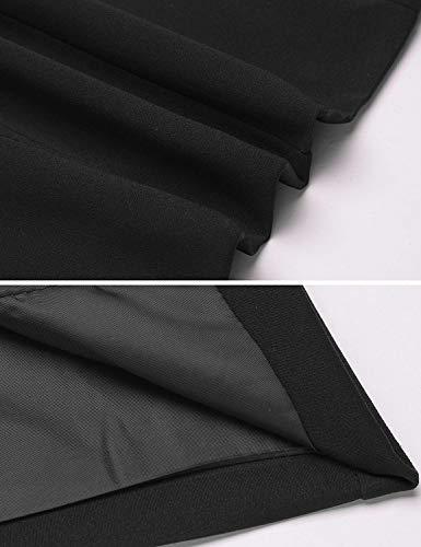 Classica Modern Schwarz Autunno Base Da Lunga Fashion Outerwear Di Elegante Mode Giaccone Manica Stile Cappotto Giacca Donna Monocromo Slim Primaverile Tailleur Fit Marca w7UIqAwB