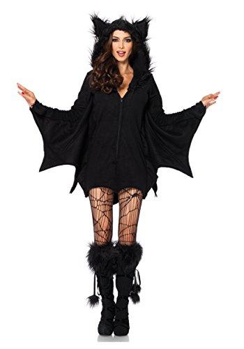 Leg Avenue Women's Cozy Bat Costume, Black, X-Large - Plus Size Costumes