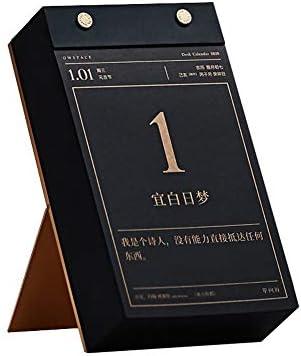 NO LOGO H-OUO Kalender, 2020 kreativer Schreibtisch-Kalender 365 Tage Einer Seite pro Tag Desktop-Karte Dieses Schreibtisch Kreative Einfachheit Kleine frisch mit eingebautem Standplatz,Für Geschenk