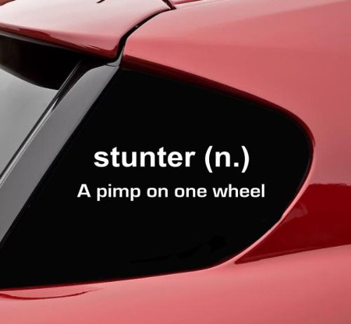 stunter-definition-vinyl-decal-bumper-sticker-car-truck-motorcycle-bike-chopper-stunt-stunter-stunti