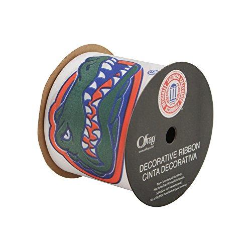 "Offray University of Florida Gators Fabric, 2-1/2"" X 9FT Ribbon"