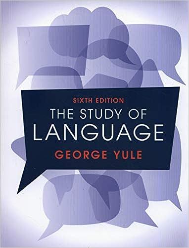 The Study Of Language 6th Edition 9781316606759