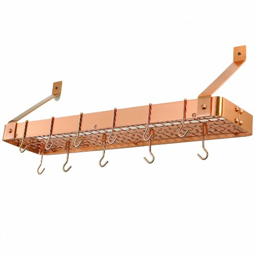 Old Dutch Cookware Rack with Grid, Satin Copper