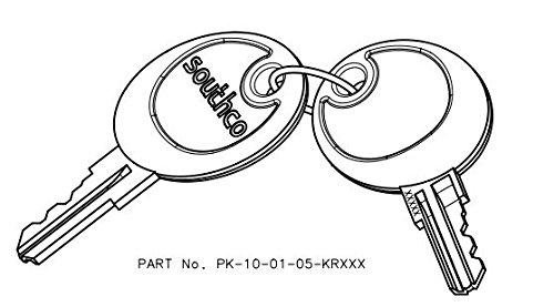 Southco PK-10-01-05 Brass CH751 Over-Molded Keys