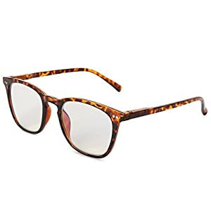 EYEGUARD Anti Blue Rays Glasses Unisex Spring Hinges Computer Reading Glasses,Readers UV Protection, Anti Glare Eyeglasses +2.00