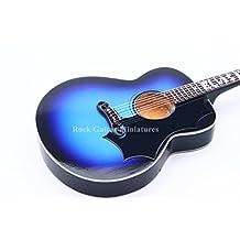 RGM229 Elvis Presley Blue Gibson Acoustic Miniature Guitar Rock Guitar Miniatures